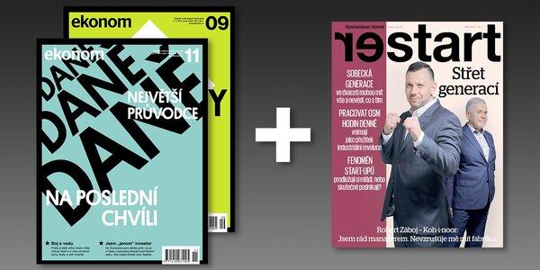 Předplatné týdeníku Ekonom + magazín Restart
