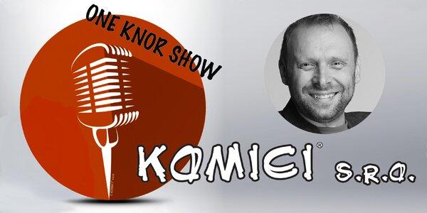 Lístek na stand-up comedy Miloše Knora