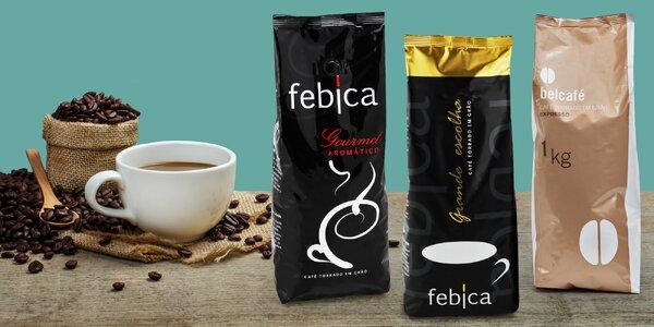 Kilo voňavé zrnkové kávy z Brazílie a Etiopie