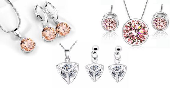 Elegantní šperky se zářícími zirkony
