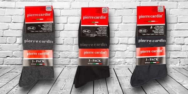 3 páry bavlněných ponožek Pierre Cardin