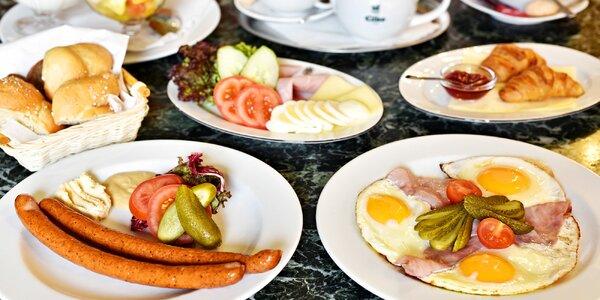 Snídaňové menu v noblesní Kavárně Obecní dům
