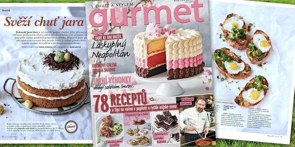 Předplatné kulinářského časopisu Gurmet