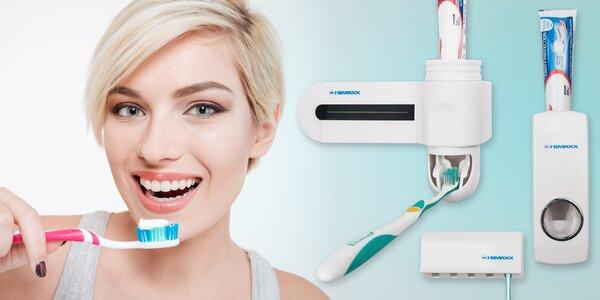 Dávkovač zubní pasty a držák na kartáčky HiMAXX