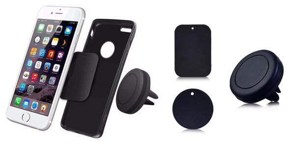 Magnetický držák na mobilní telefon do mřížky ventilátoru auta
