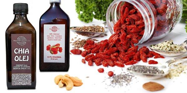 Zdravé mlsání: balíčky ořechů, semínek i olejů
