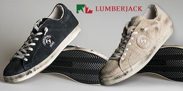 Pánské boty Lumberjack se stylovou patinou