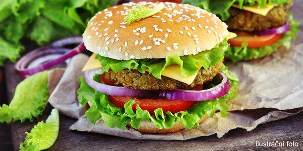 Veganské bezlepkové 3chodové burger menu
