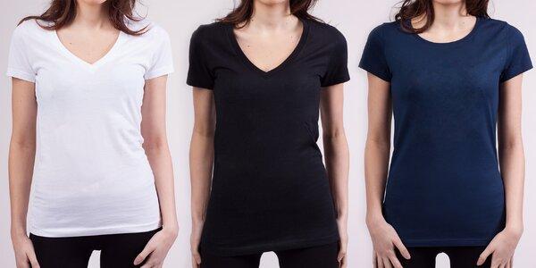 Doplňte si šatník: dámská trička bez potisku