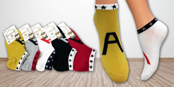 5 párů dámských letních ponožek