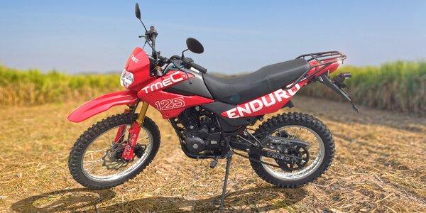 Záloha na motocykl Tmec 125 s výkonem motoru 11 kW