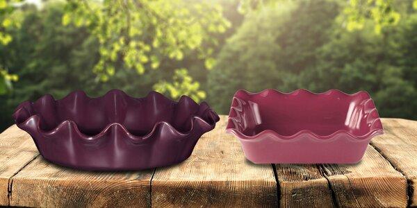 Francouzské keramické koláčové formy