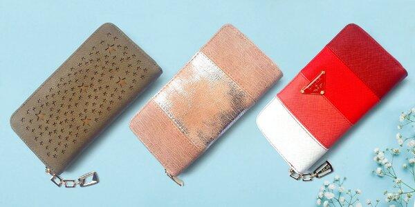 Dámské podlouhlé peněženky v 9 variantách