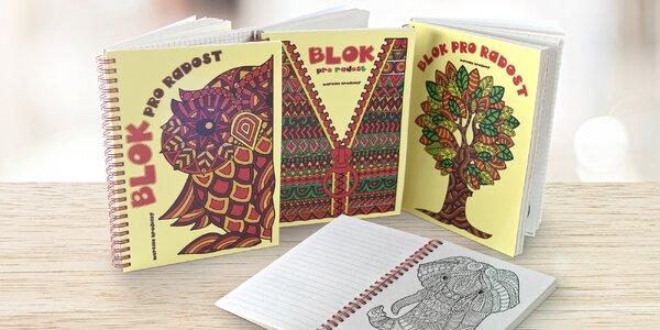Blok pro radost - zápisník s omalovánkami