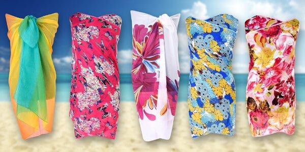 Vzdušné plážové šátky na plavky i místo šatů