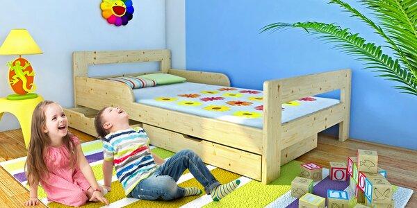 Dětské postele z masivu s roštem i matrací