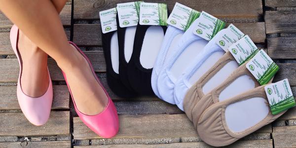 9 párů bambusových ponožek do balerínek