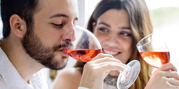 Lahev vína Merlot rosé