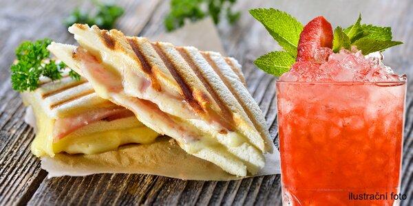 Křupavé panini a domácí limonáda pro 1 nebo 2