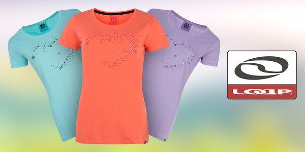 Dámská trička Loap v pastelových barvách