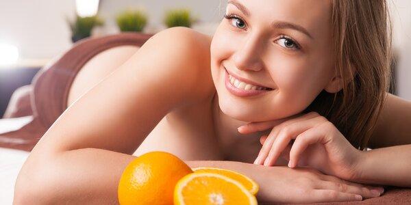 Spa aroma masáž zad a šíje s vůní pomeranče