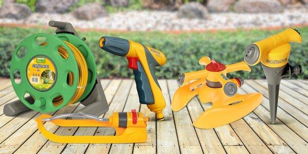Zahradní rozstřikovače a hadice značky Hozelock