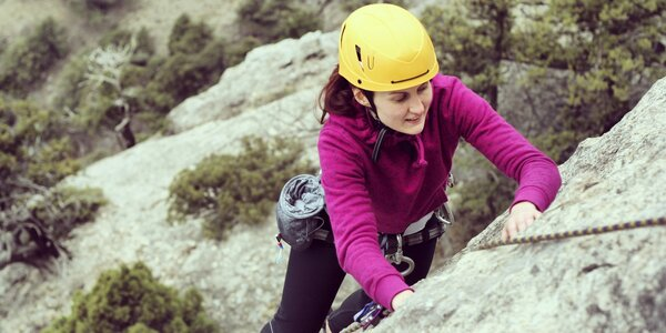 Kurz lezení Via Ferrata v horolezecké aréně