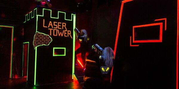 Akční laserová střílečka pro 4, 6 nebo 8 hráčů