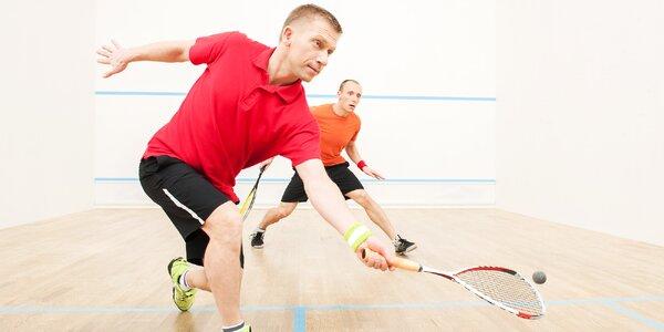 Hodinový pronájem squashového kurtu pro dva