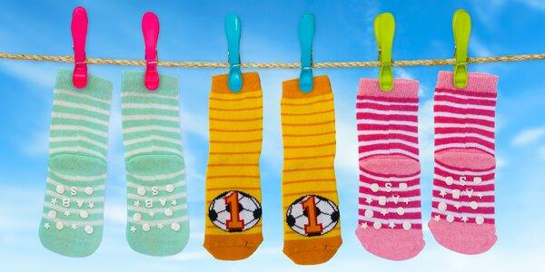 4 páry dětských hravých ponožek
