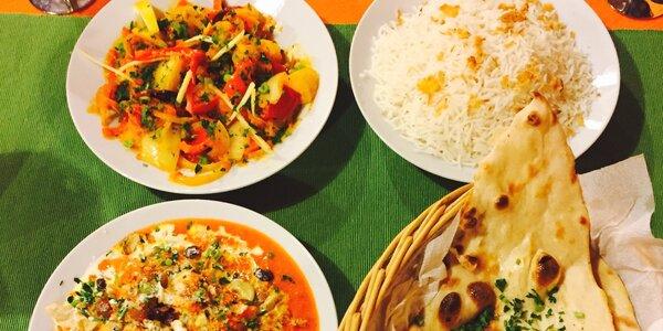 Tradiční indické menu pro dva