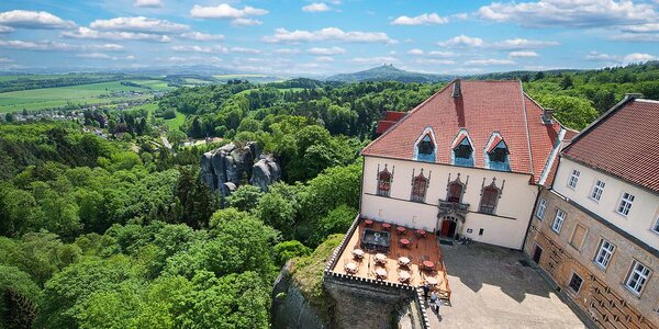 4 romantické noci na zámku s polopenzí a wellness