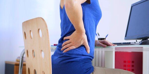 Masáž krční a hrudní páteře s akupresurou