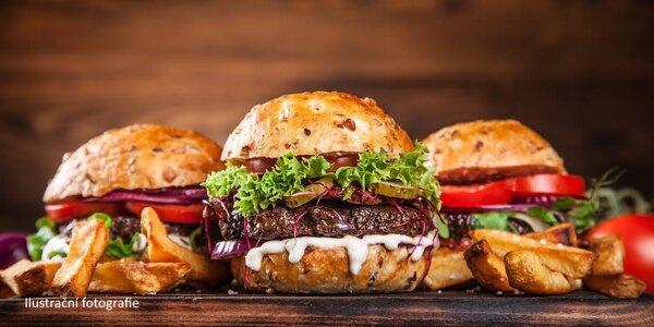 Burgerová hostina pro dva až čtyři jedlíky