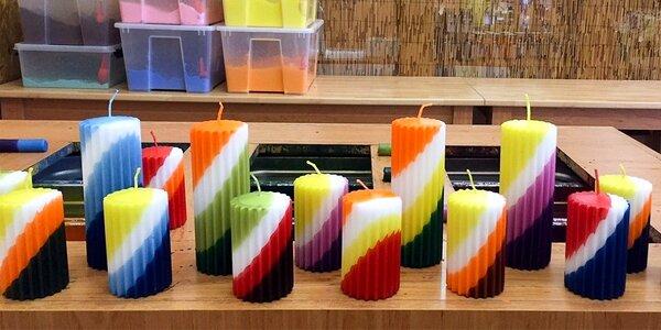 Vyrábění svíček a dárečků v tvůrčí dílně Rodas