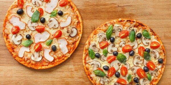 2 pizzy všech vůní a barev a 2 nealko nápoje