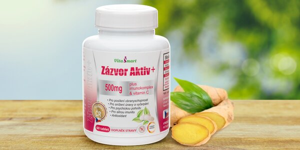 Zázvorové tablety proti letnímu nachlazení