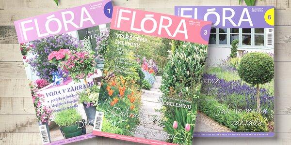 Předplatné časopisu FLÓRA na zahradě + bonusy