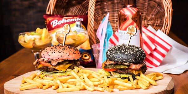 Piknik pro pár: hamburgery, víno a další dobroty