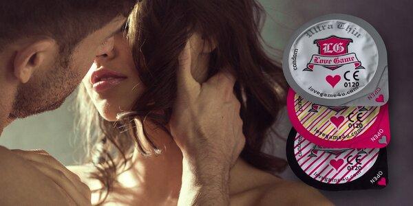 Balíčky kondomů LOVE GAME mix + dárek