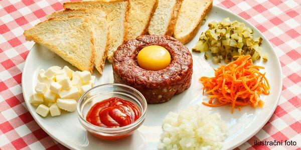 Podle vaší chuti: nemíchaný hovězí tatarák