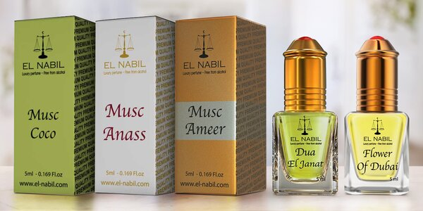Orientální parfémy El Nabil z Dubaje
