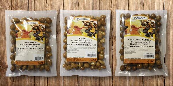 Ořechy obalené v tiramisu polevě