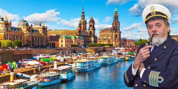 Výletní plavba do Drážďan: oběd, víno a raut