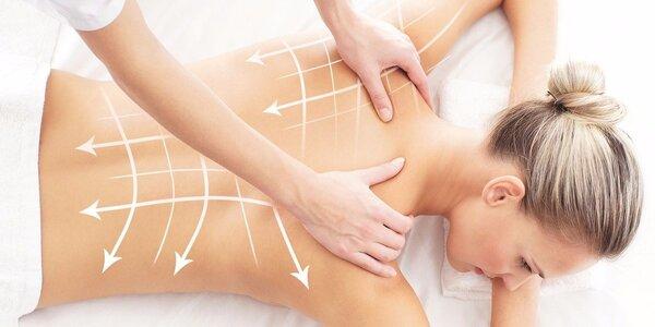 60minutová masáž pro skvostné uvolnění zad a šíje