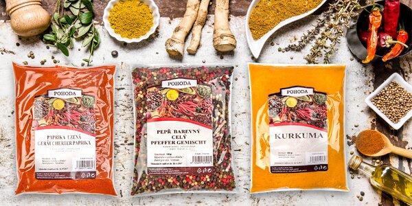 Balíčky plné koření a bylinek do vaší kuchyně