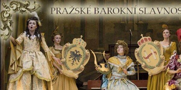 375 Kč za vstupenku v hodnotě 750 Kč na festival Pražské barokní slavnosti!
