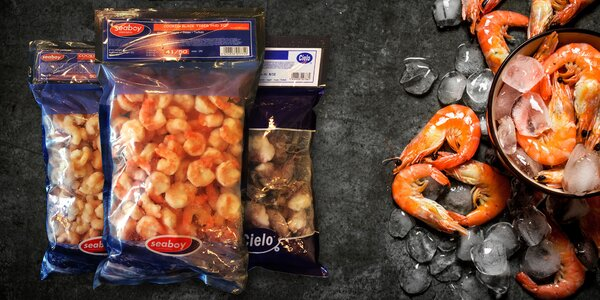 800 g krevet: mražených, vyloupaných a předvařených