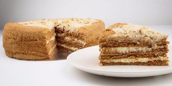 750g lahodný medový dort pro váš sladší den