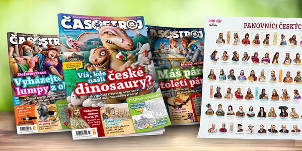 Roční předplatné dětského magazínu Časostroj ročník 2017